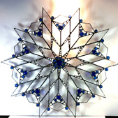 Super Star stained glass window hanging large