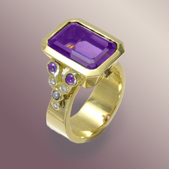 Amethyst Ring by Karen Nottonson